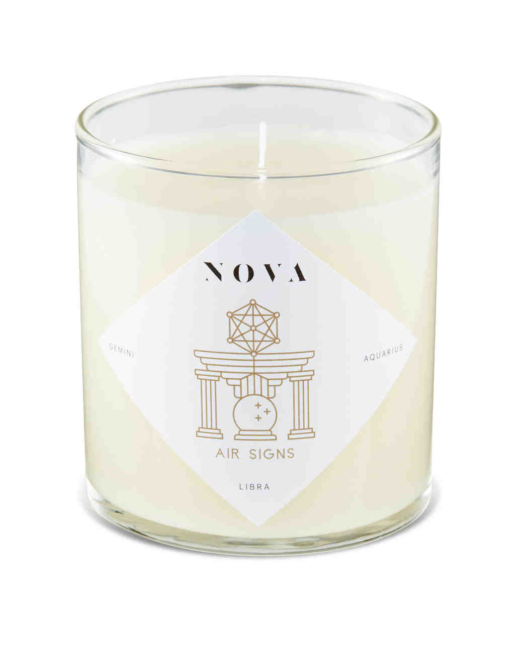 nova zodiac earth sign candle