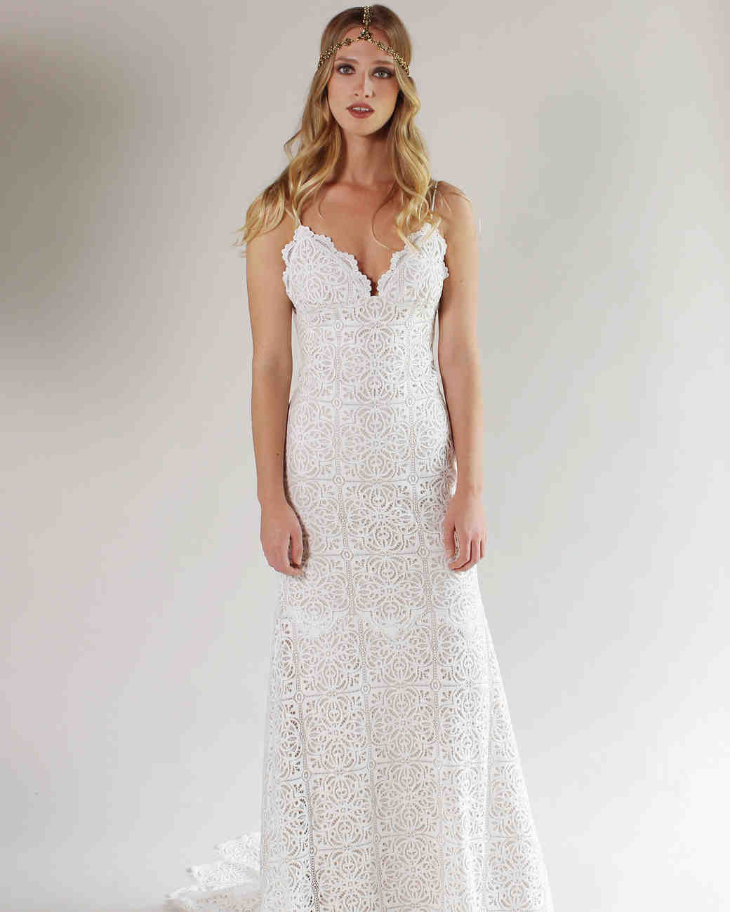 Claire Pettibone Lacey Slip Wedding Dress