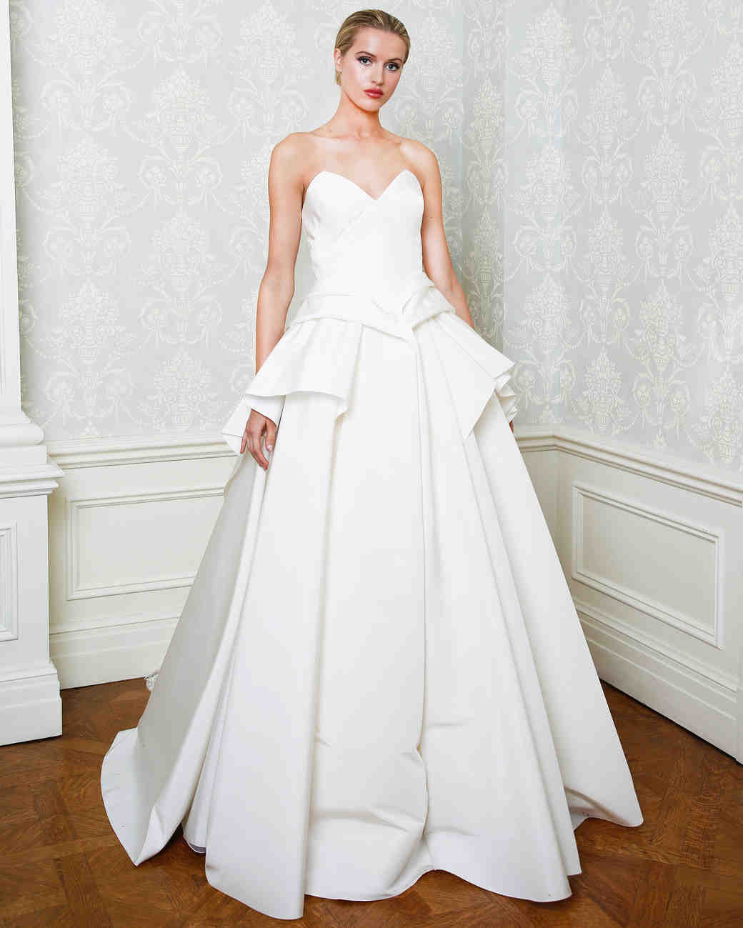 Cristina Ottaviano wedding dress spring 2019 sweetheart neckline tier skirt ballgown
