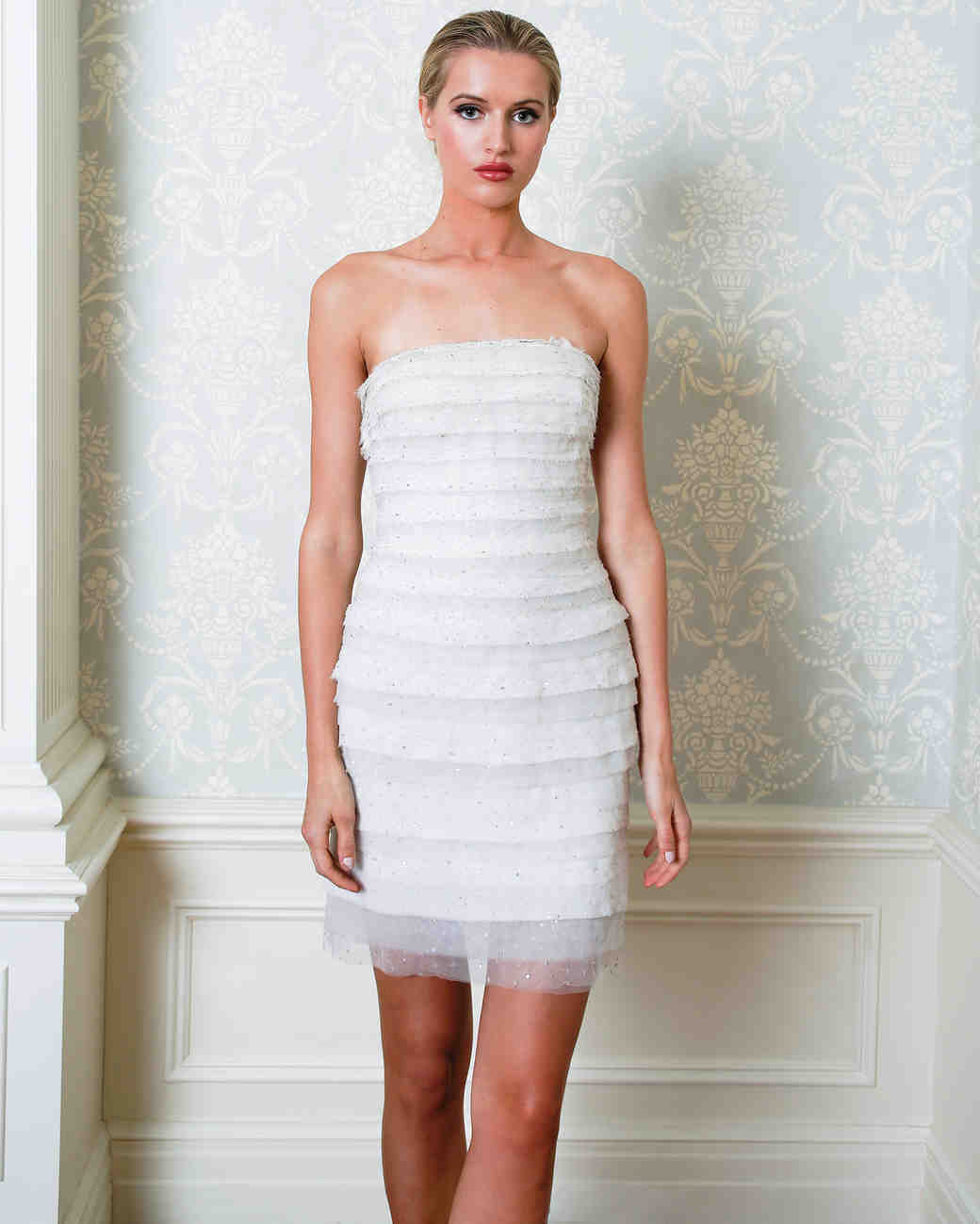 Cristina Ottaviano wedding dress spring 2019 short layered sheath