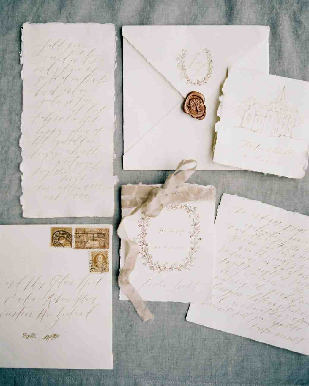 Trending Now: Deckle-Edge Wedding Invitations | Martha Stewart Weddings