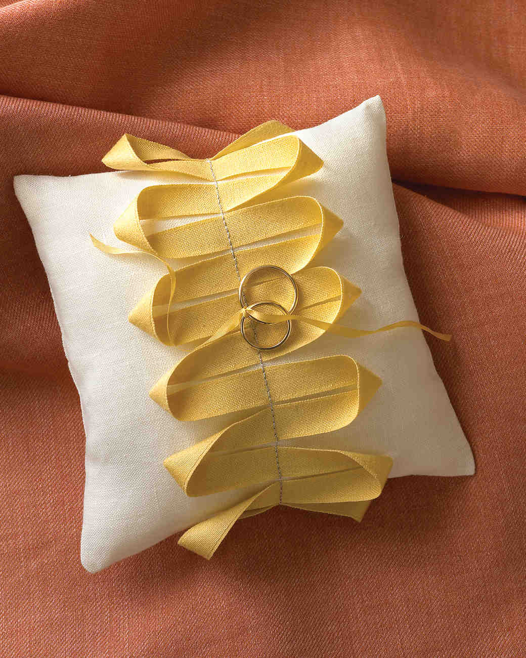 Ribbon-Embellished Ring Pillow & Ribbon Ideas for Your Wedding That Are Fit to Be Tied | Martha ... pillowsntoast.com