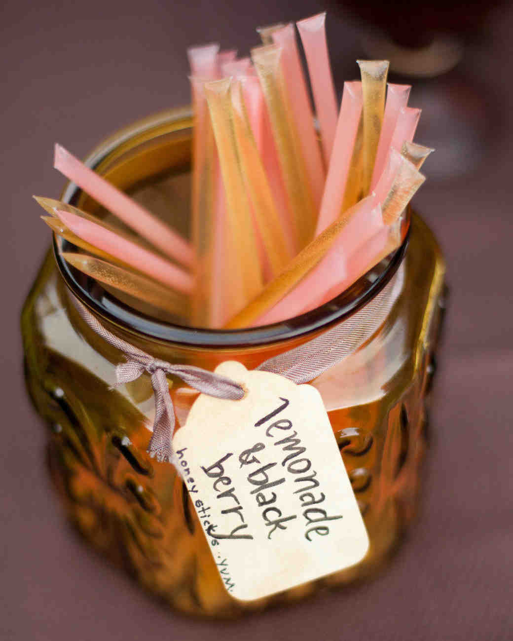 honey stick wedding favors