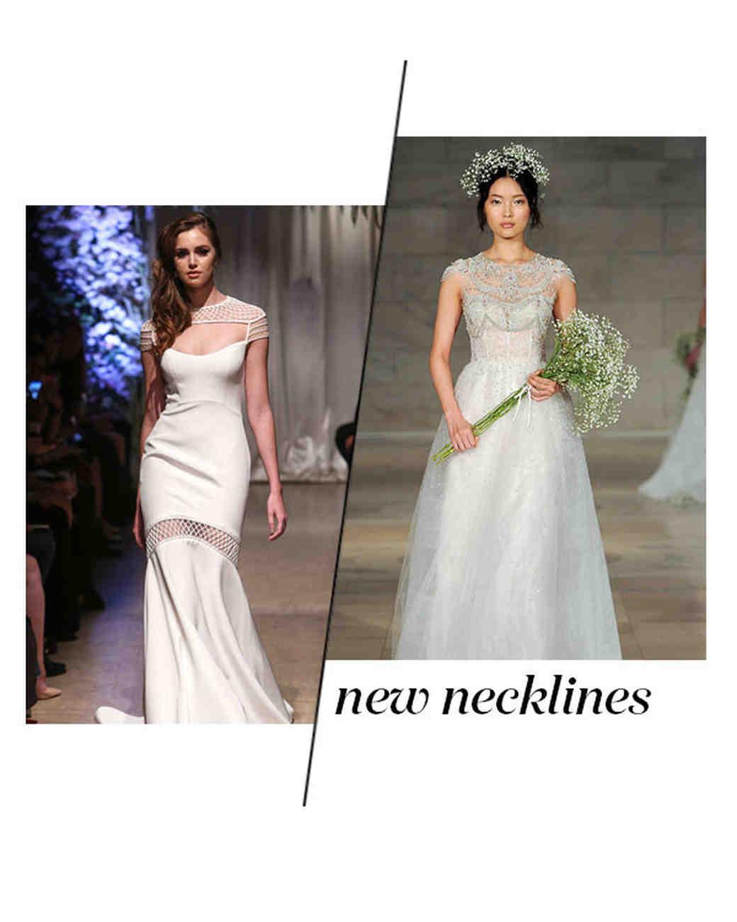 Fall 2018 Wedding Dress Trends, New Necklines