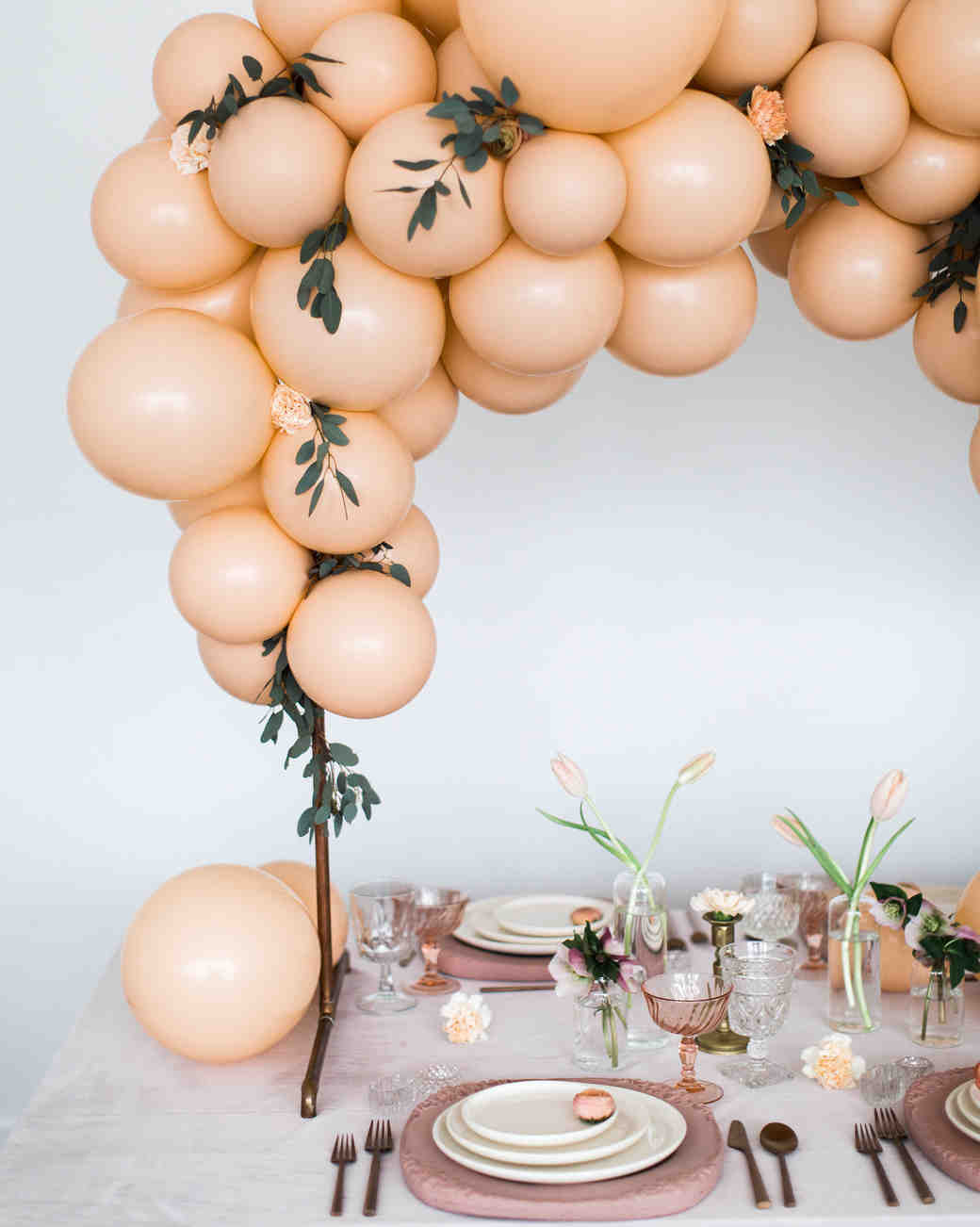 fall bridal shower inspiration balloon arch