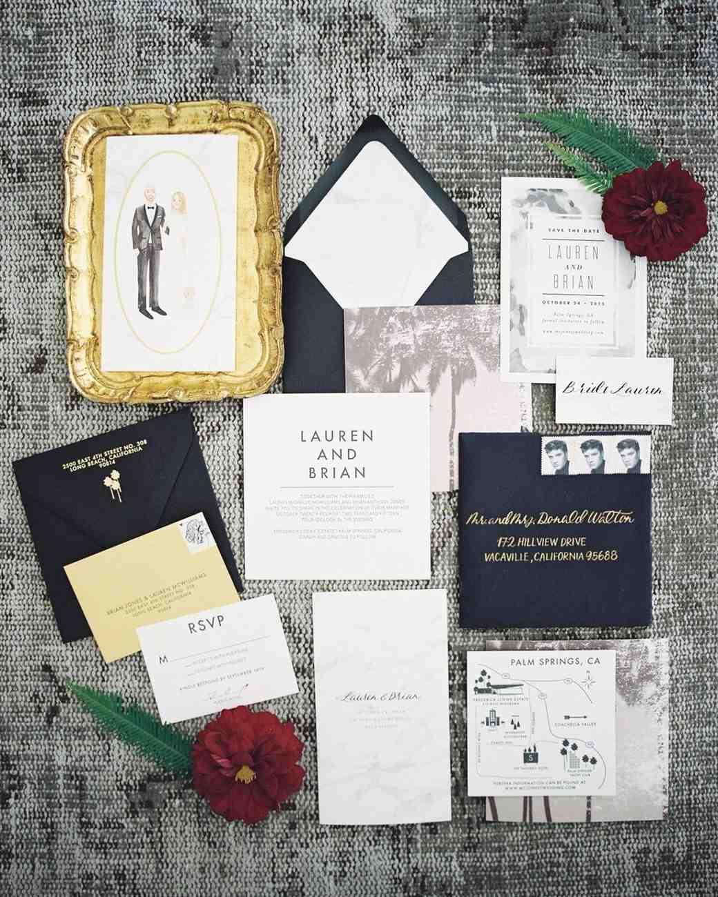 37 Fall Wedding Invitations from Real Weddings Martha Stewart Weddings