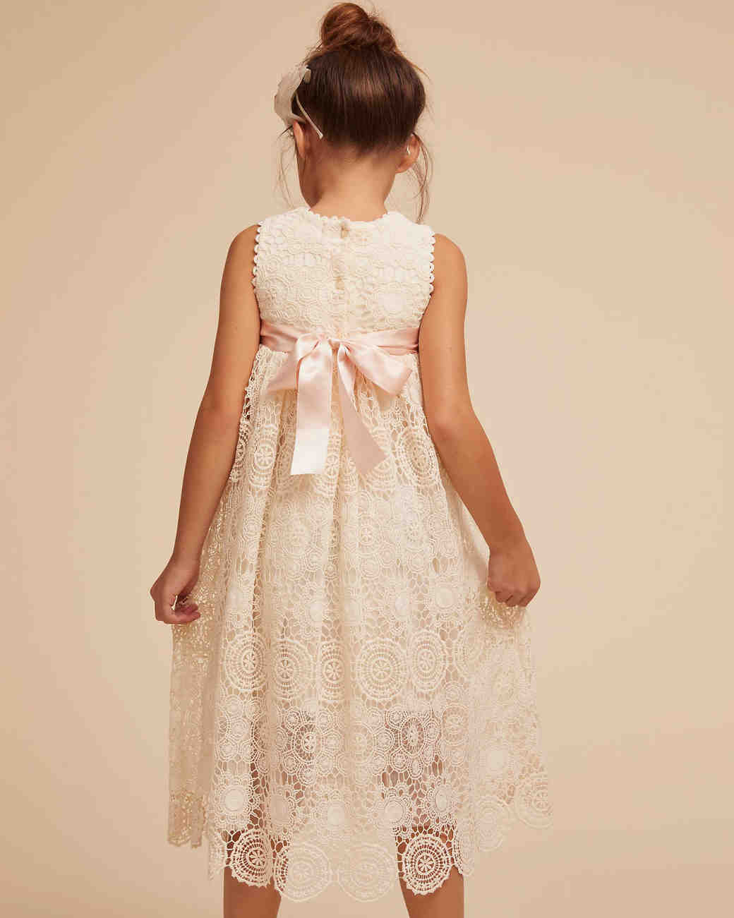 e88b3a40fcd 30 Adorable Flower Girl Dresses with Bows