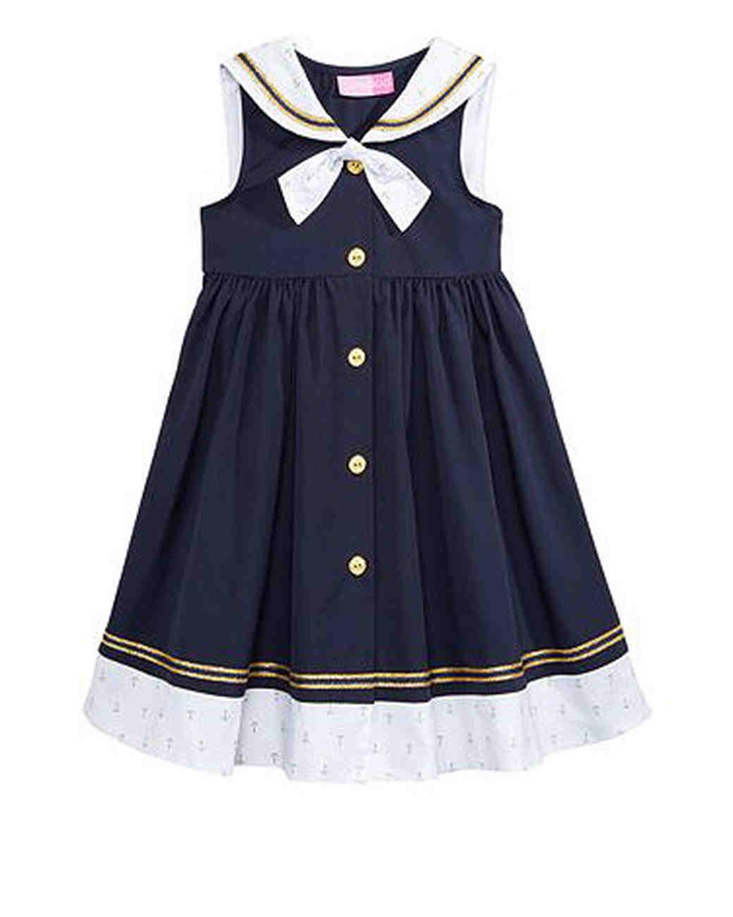 nautical flower girl dress