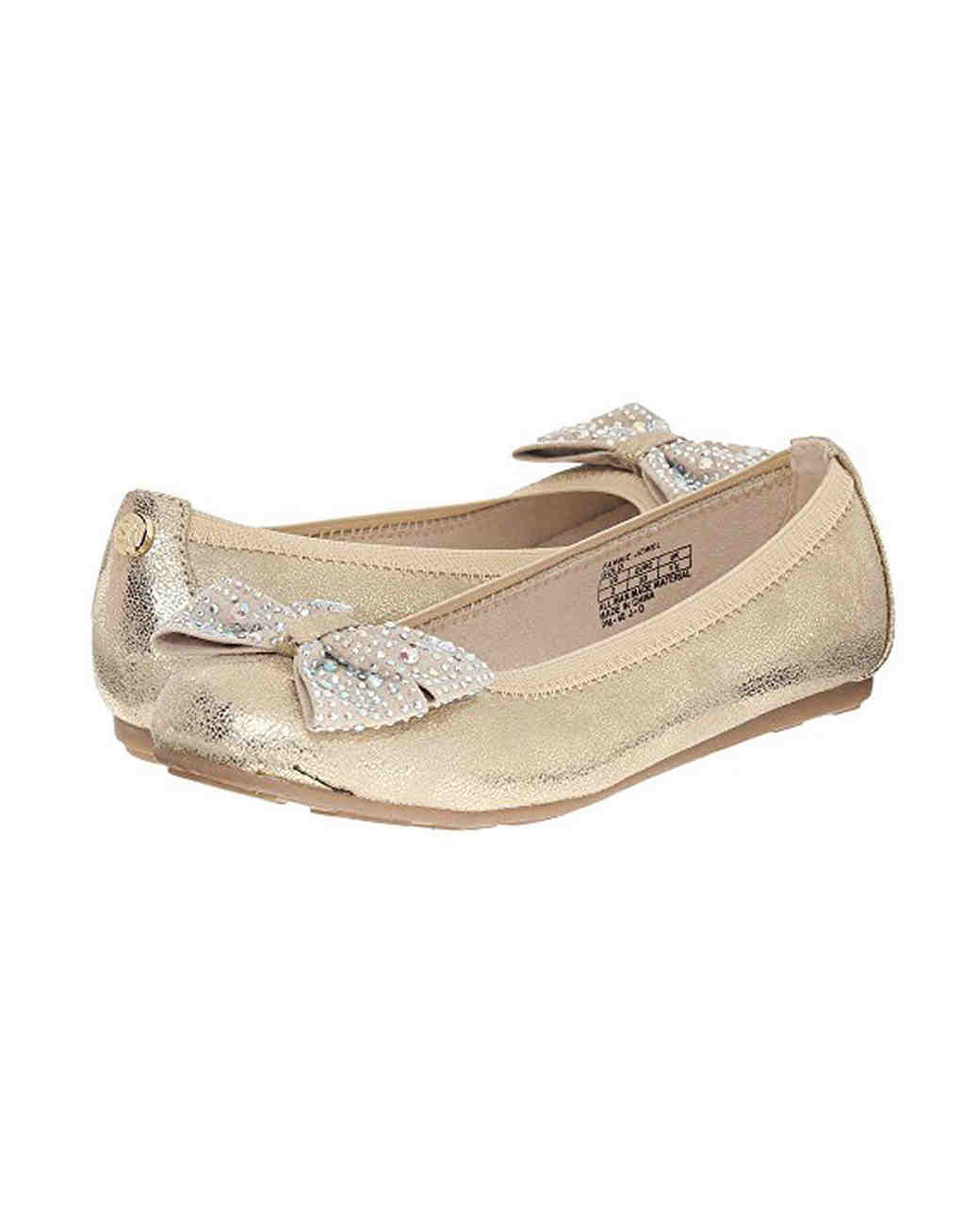 flower girl shoes gold flats