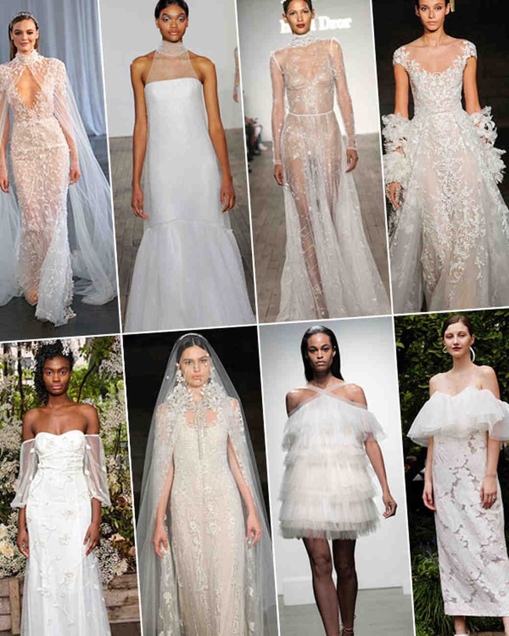 8a403b8aa0c Wedding Dress Trends from Fall 2019 Bridal Fashion Week