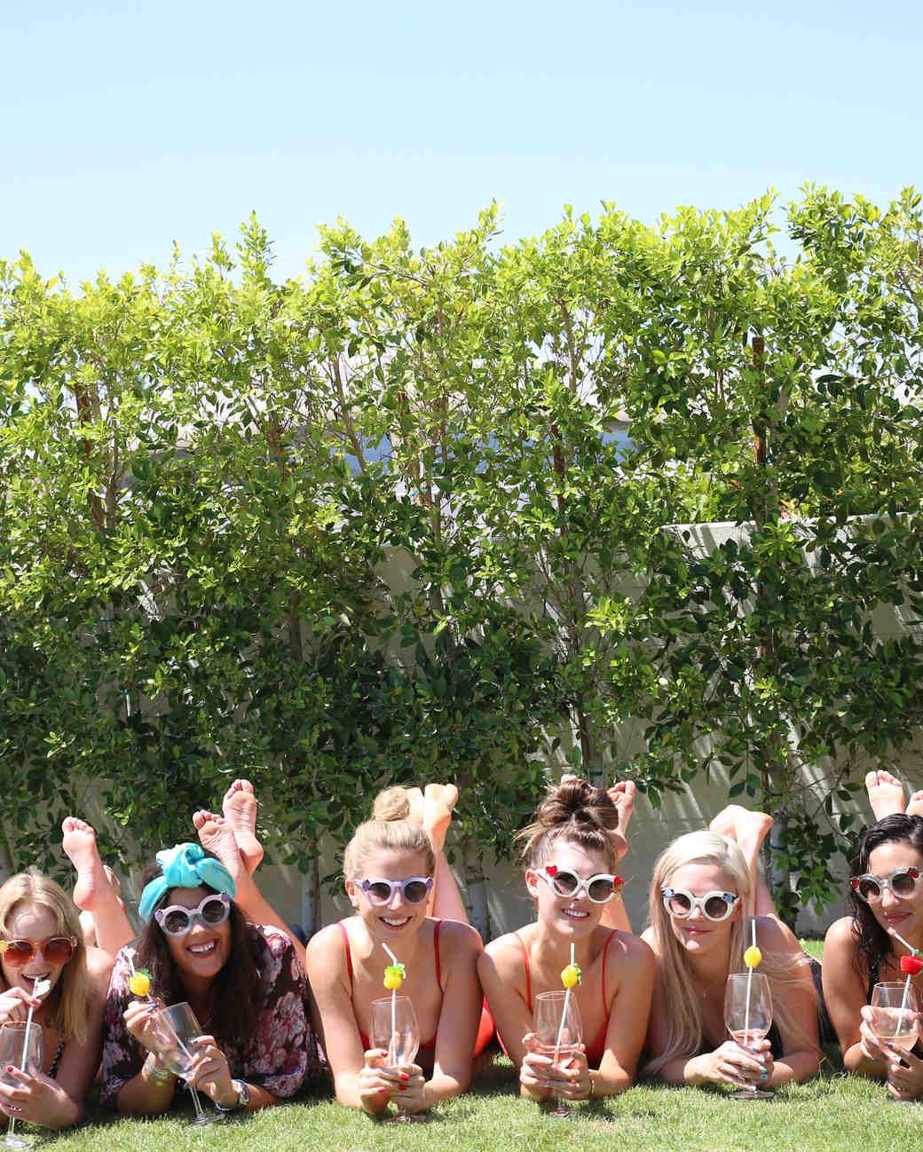 Girls flash in their bikinis