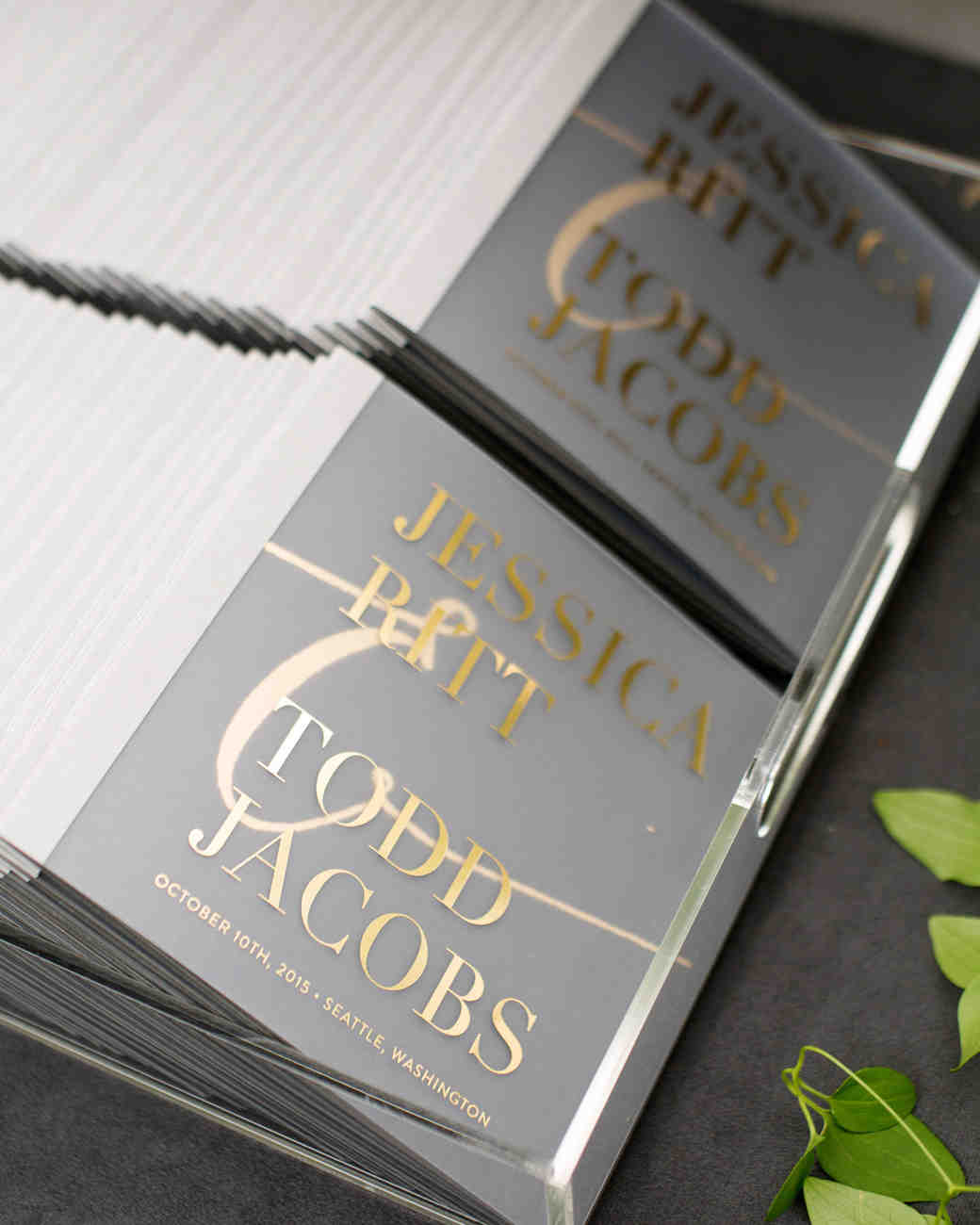 jess todd wedding programs