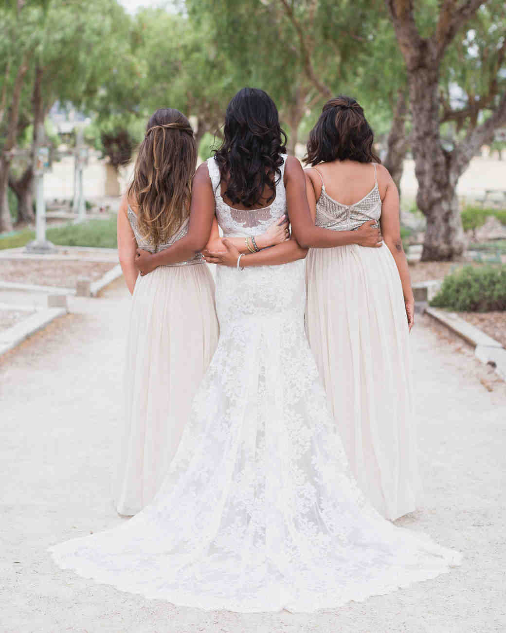 california indian jewish wedding bridesmaids portrait