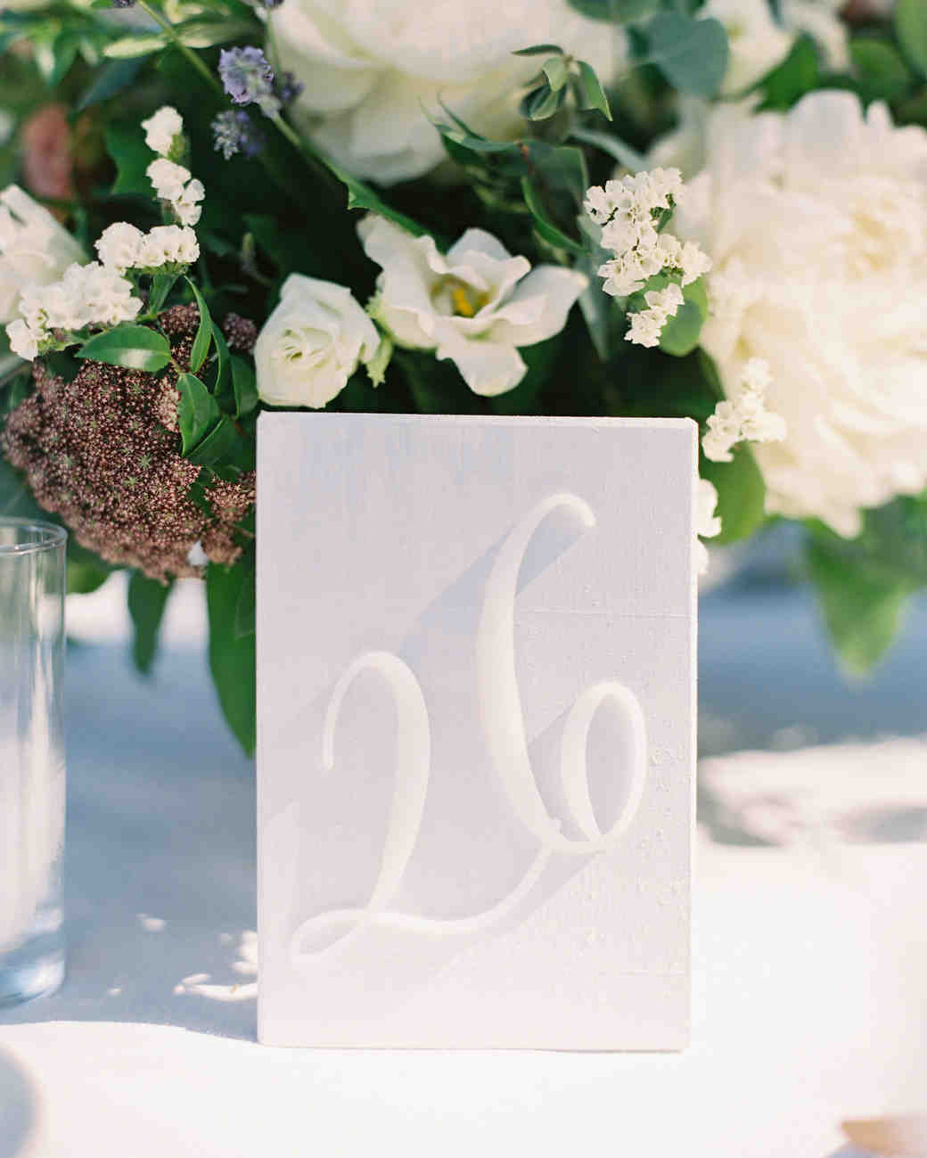 White Laser-Cut Table Number
