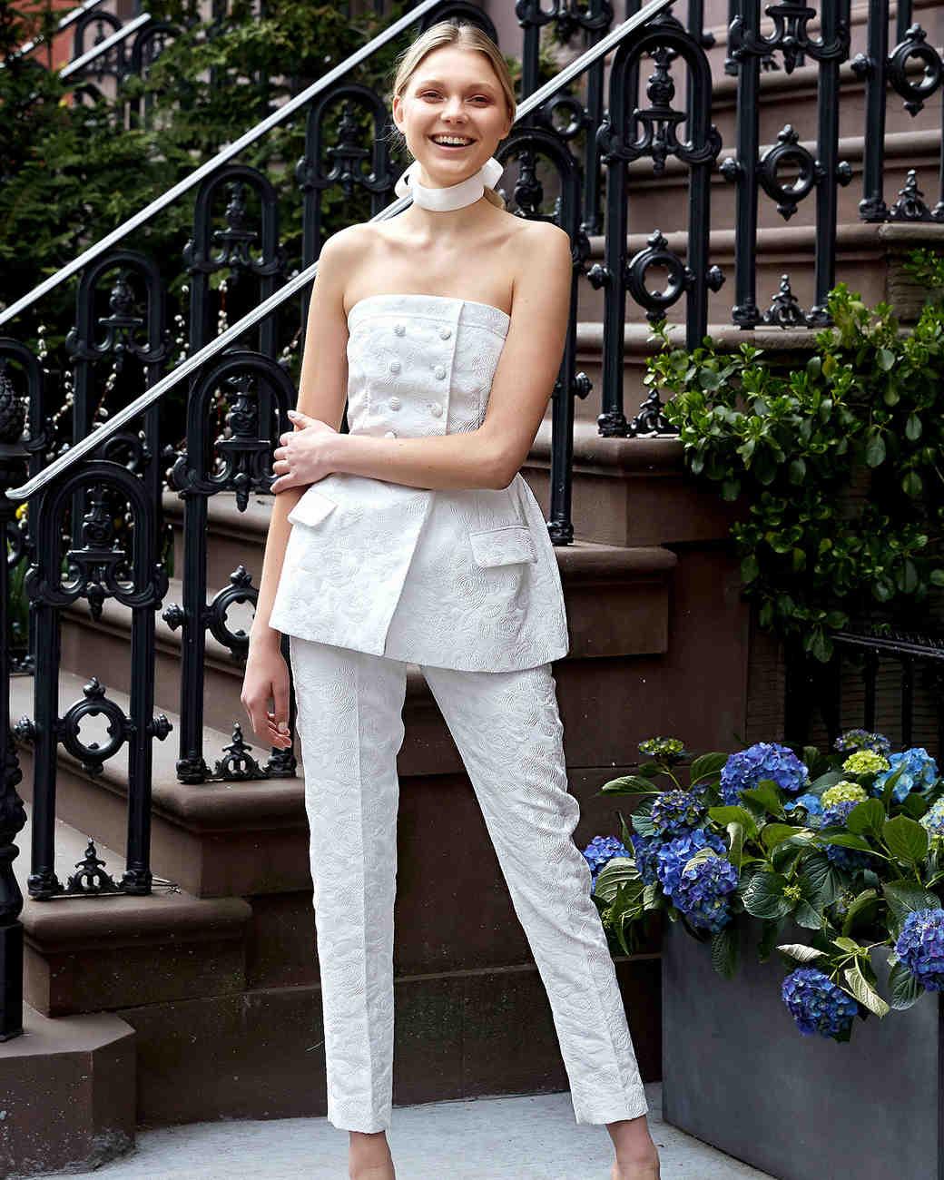 63 Chic Wedding Suits For Brides Martha Stewart Weddings