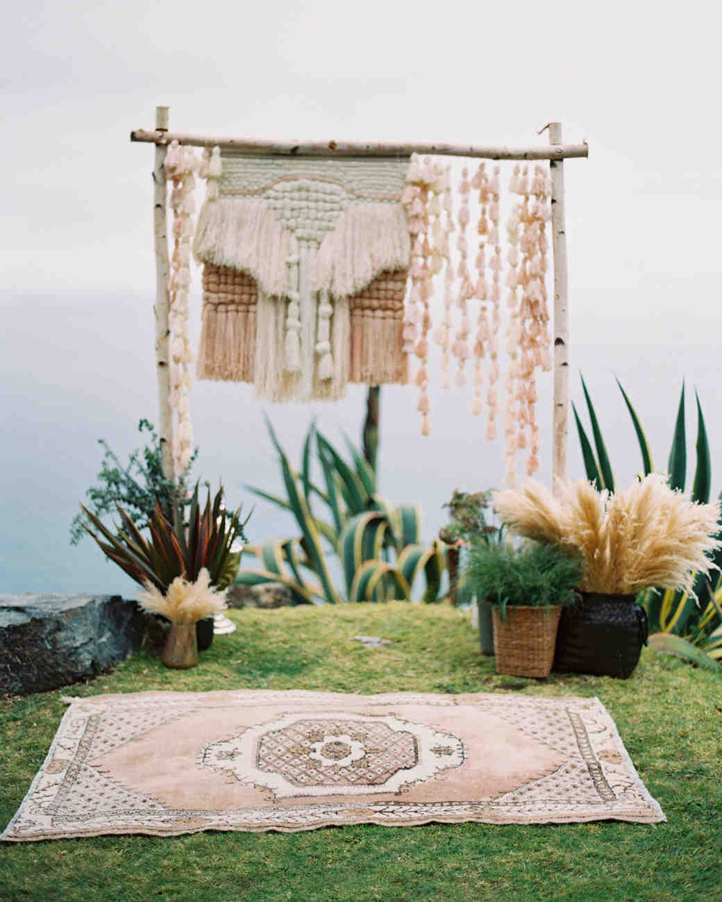 macrame wedding decor kurt boomer