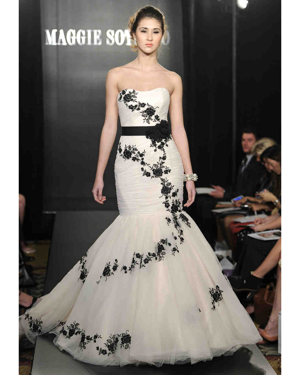 Black and white wedding dresses spring 2013 bridal fashion week maggie sottero mightylinksfo
