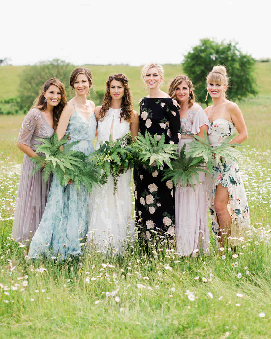 molly ed wedding bridesmaids with bride