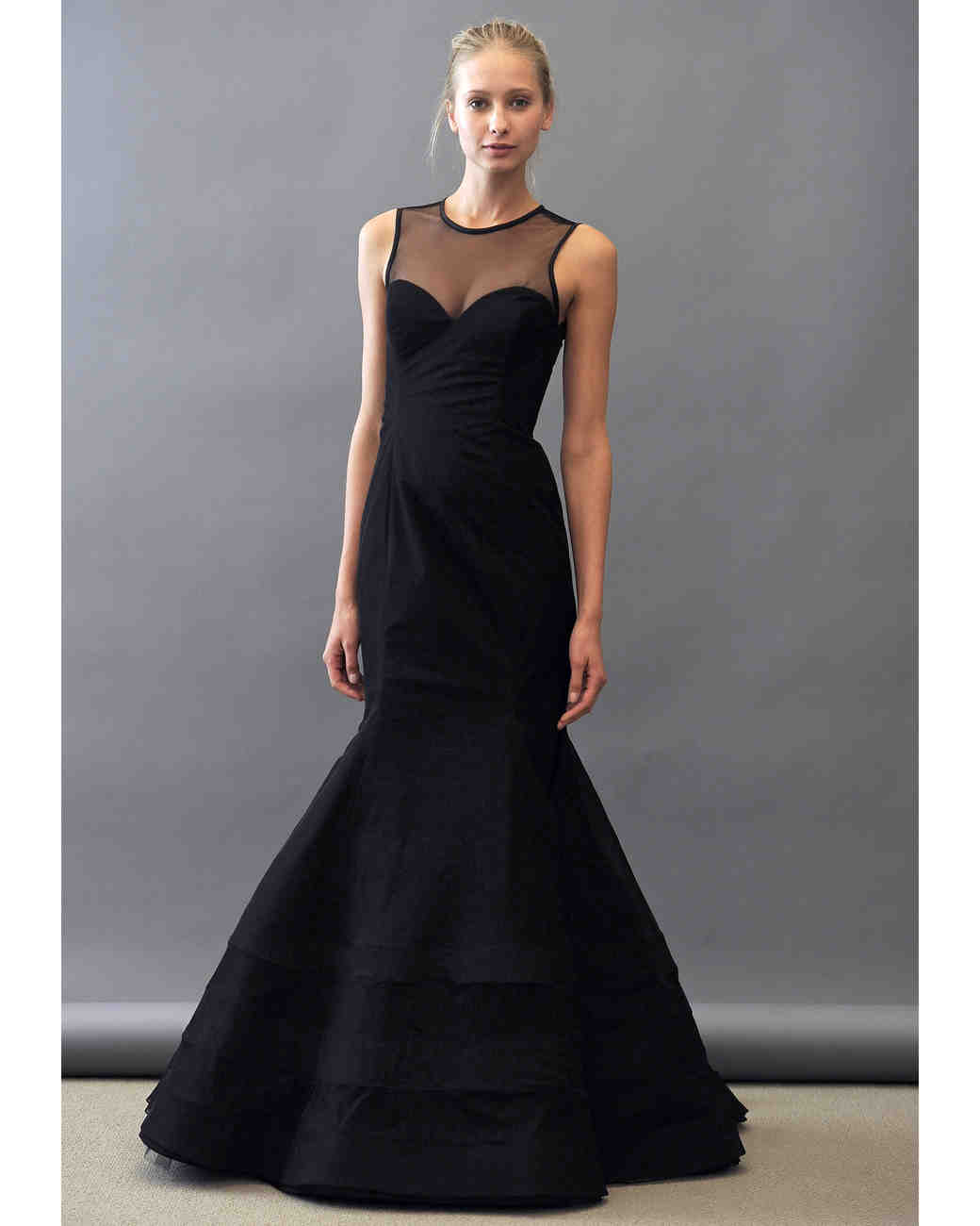 Noir by lazaro spring 2013 bridesmaid collection martha stewart trumpet bridesmaid dress in black noir by lazaro ombrellifo Choice Image