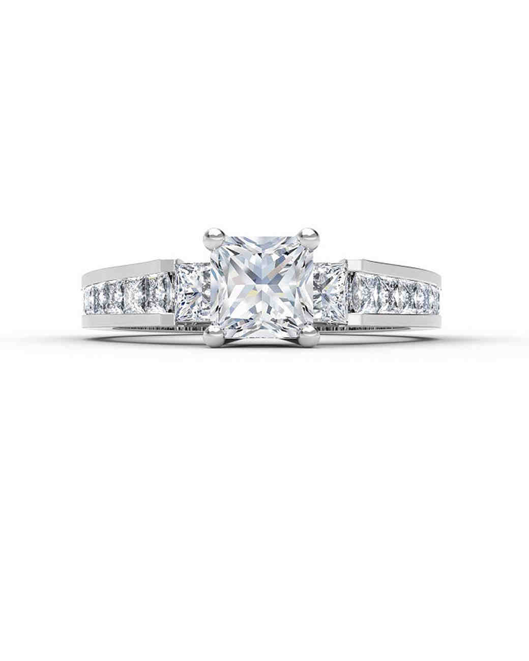 princess cut ring forevermark silver diamonds