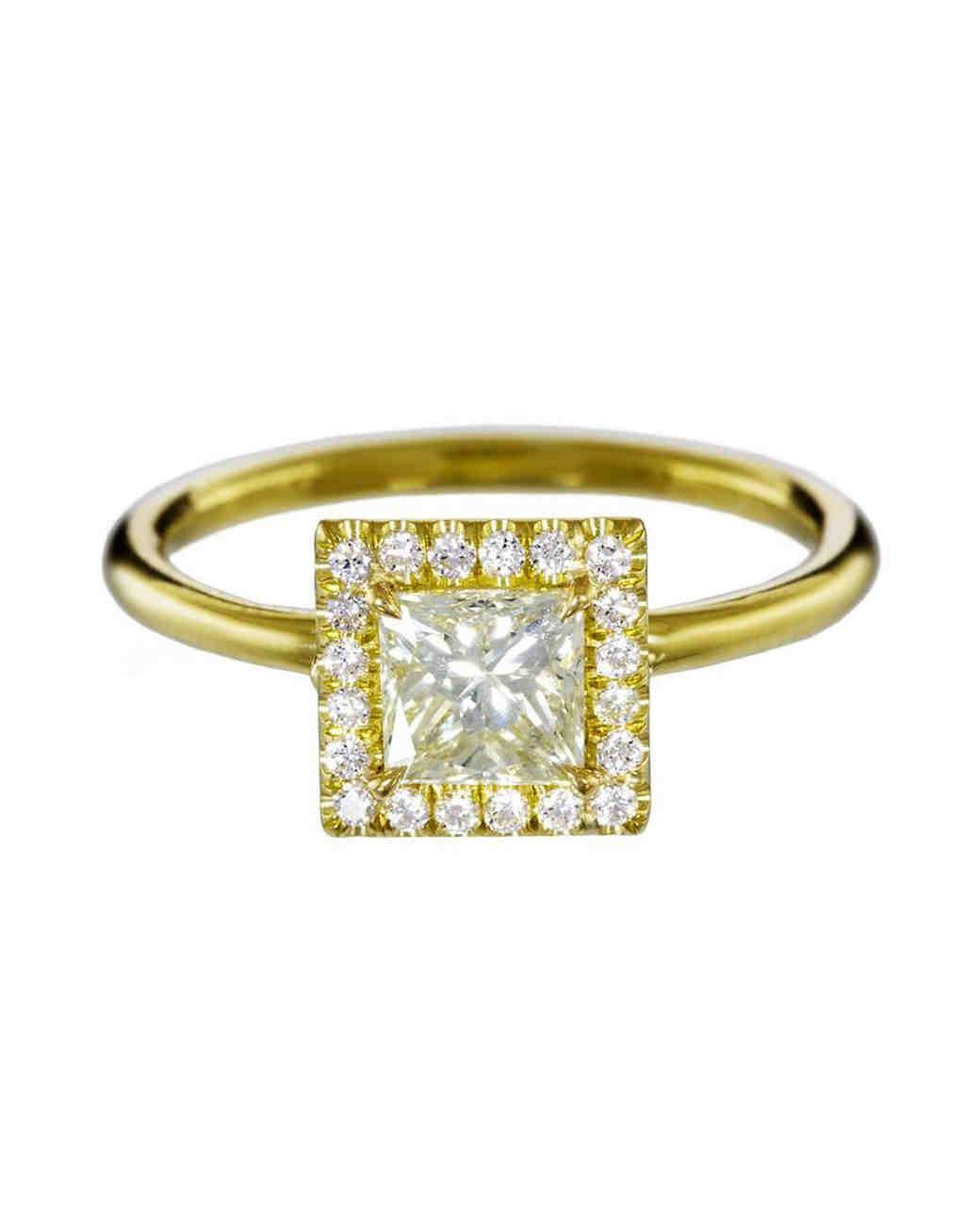 princess cut ring gold mandrel studio