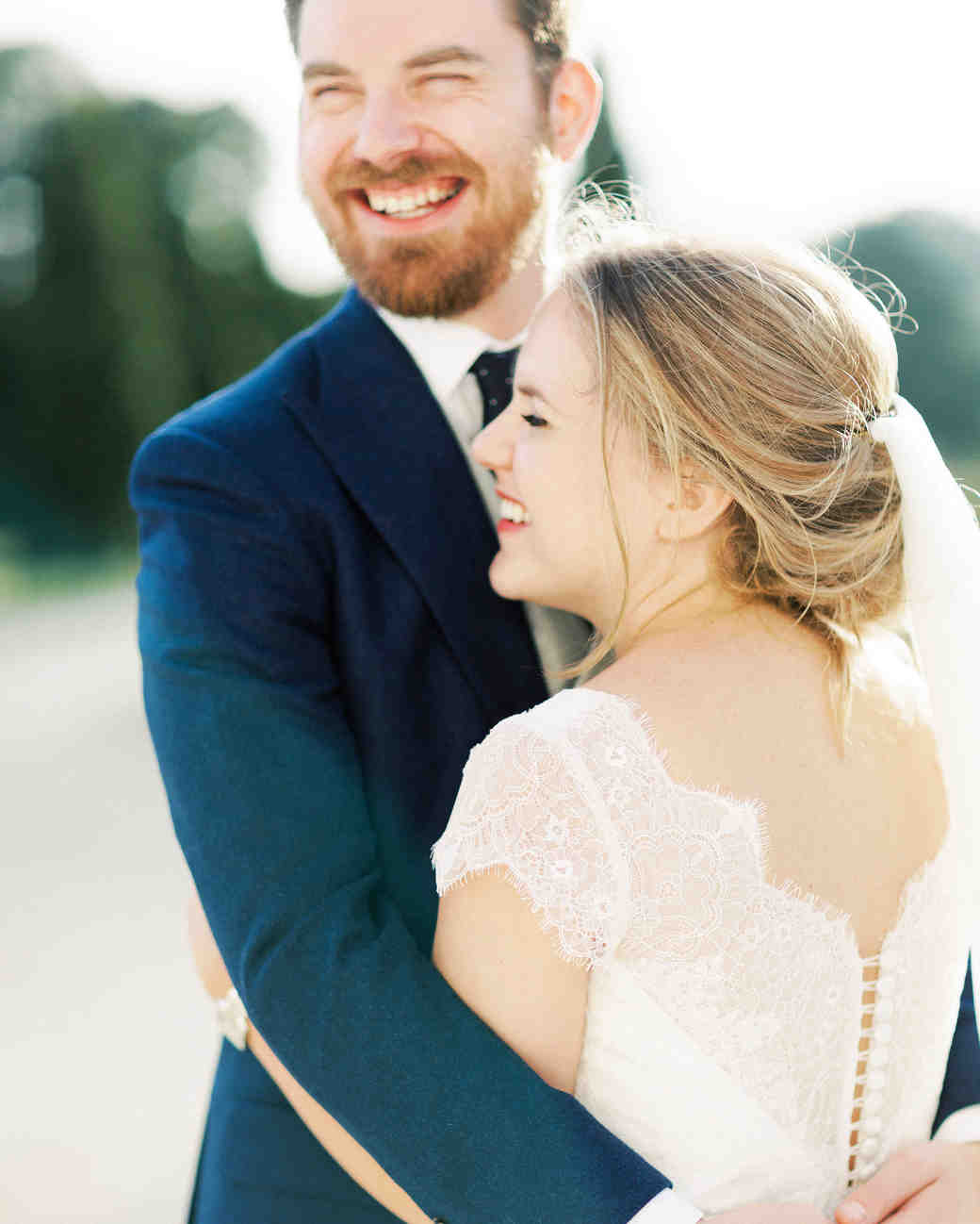 sophie christopher wedding couple embracing and smiling