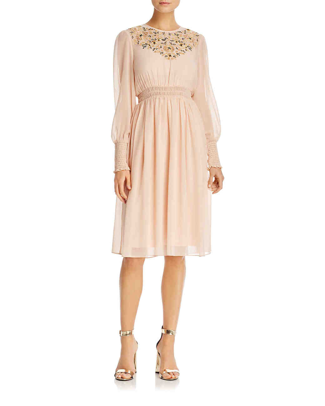 Nanette Nanette Lepore embroidered smocked dress