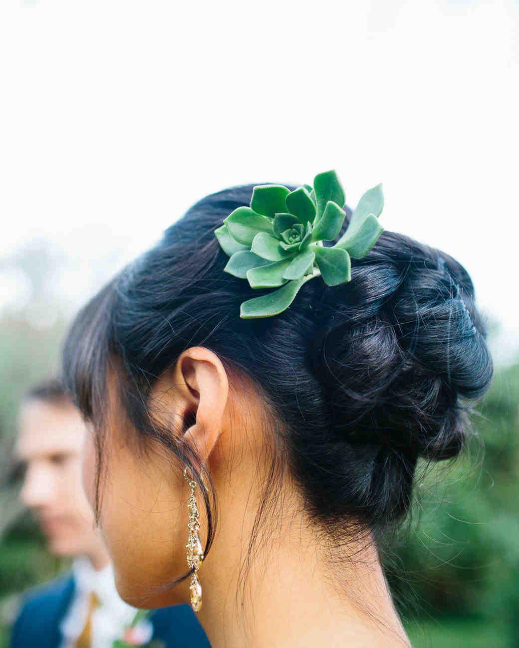 succulent hair accessory