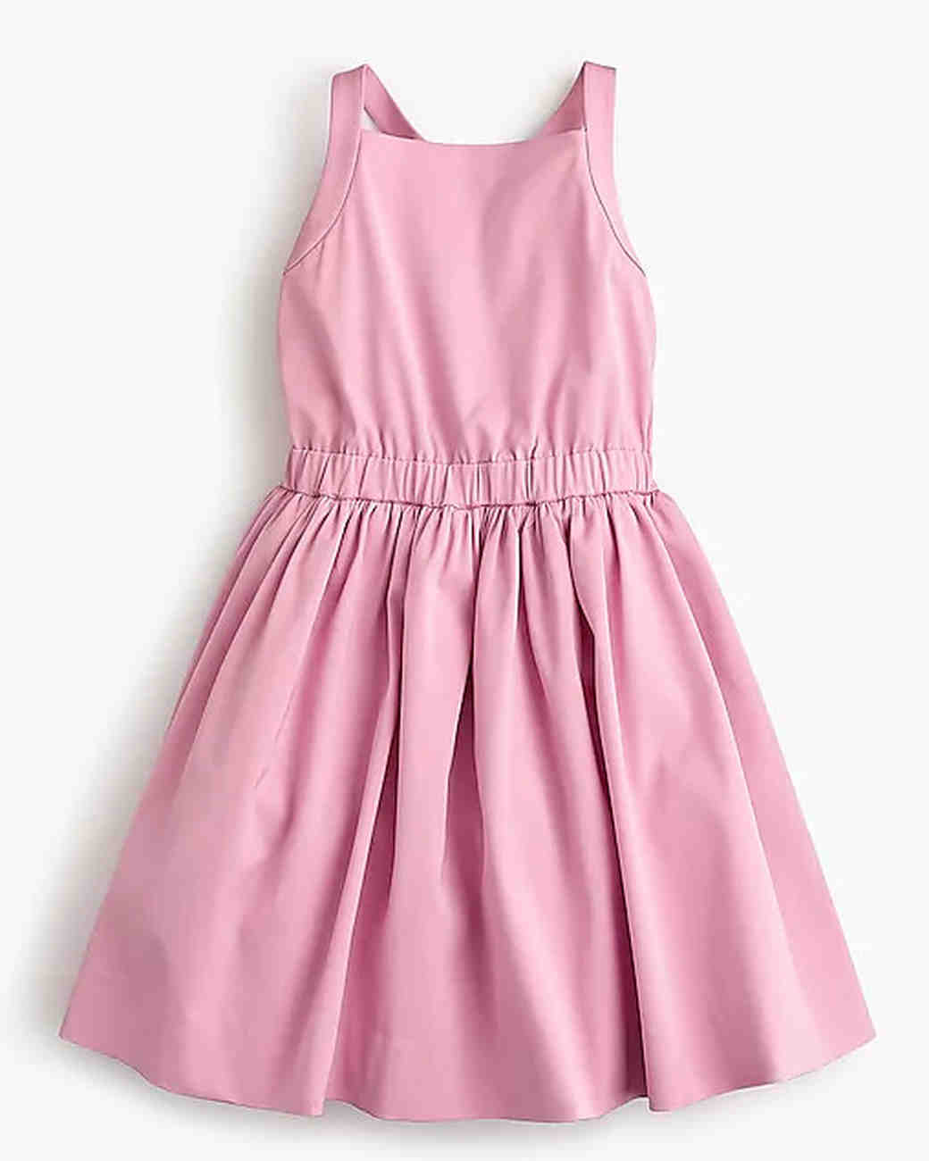 summer flower girl dress pink simple