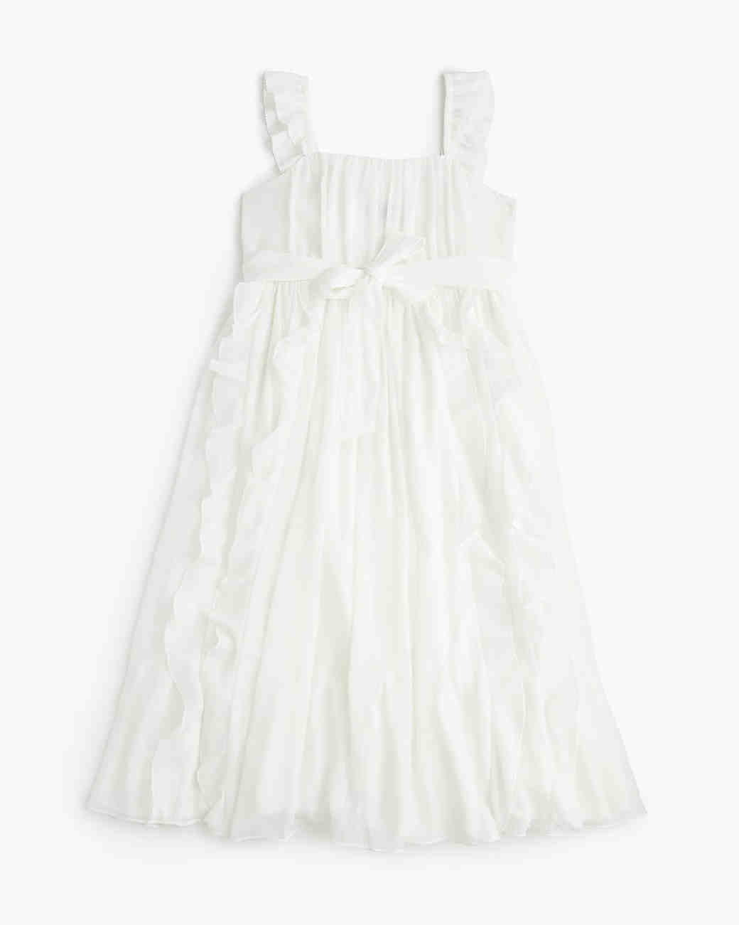 summer flower girl outfit white bow dress