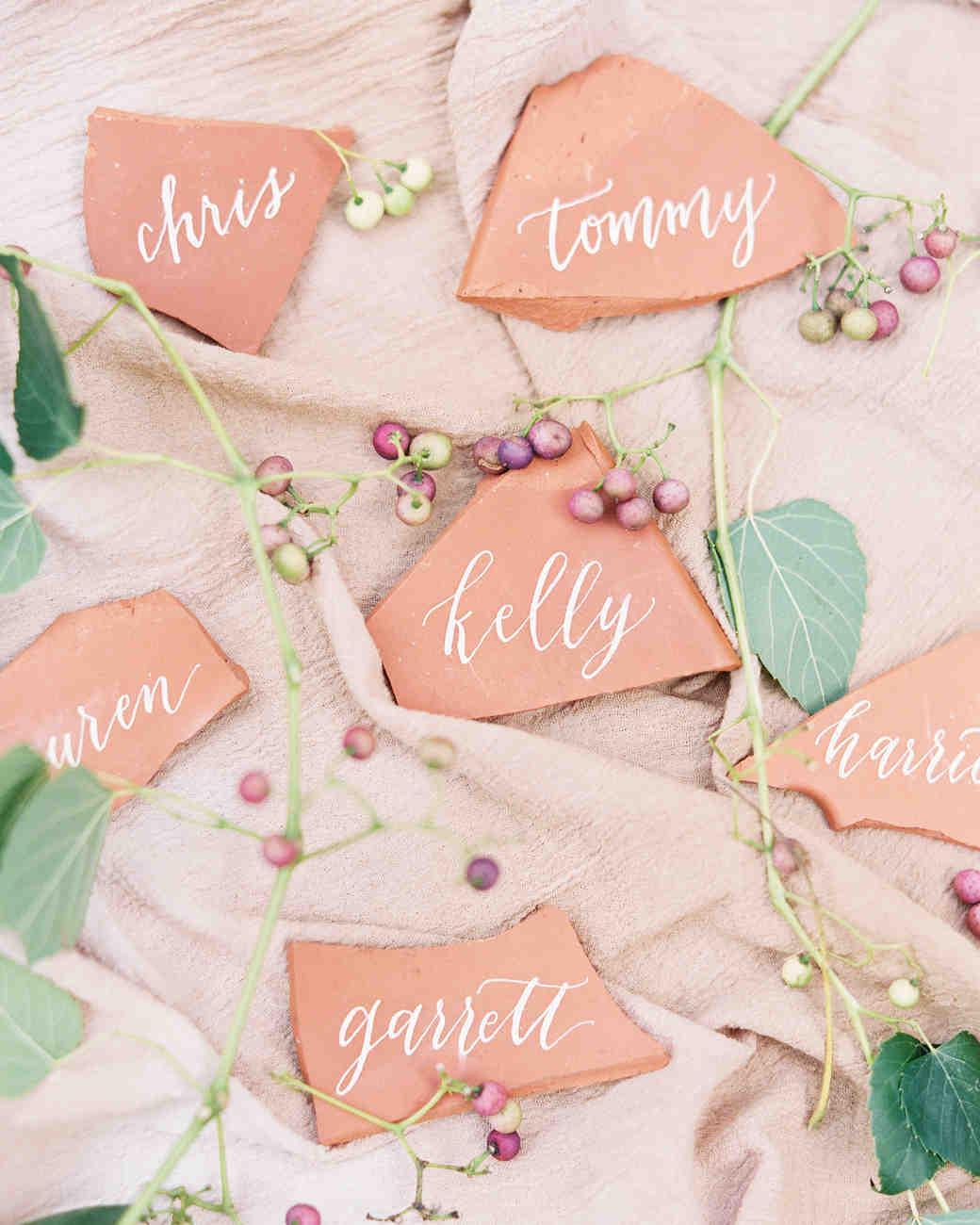 terra cotta name cards
