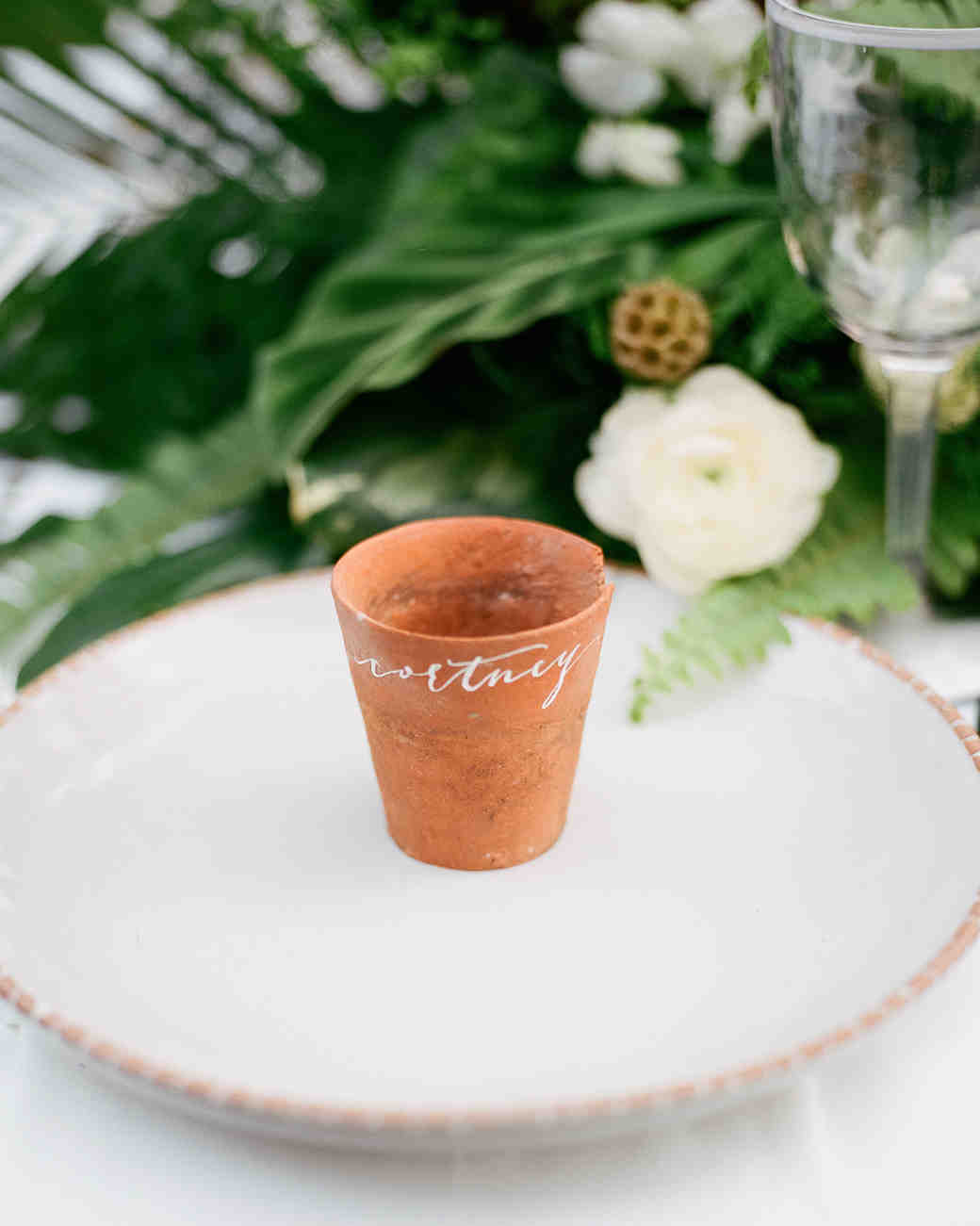 terra cotta decor place setting cup