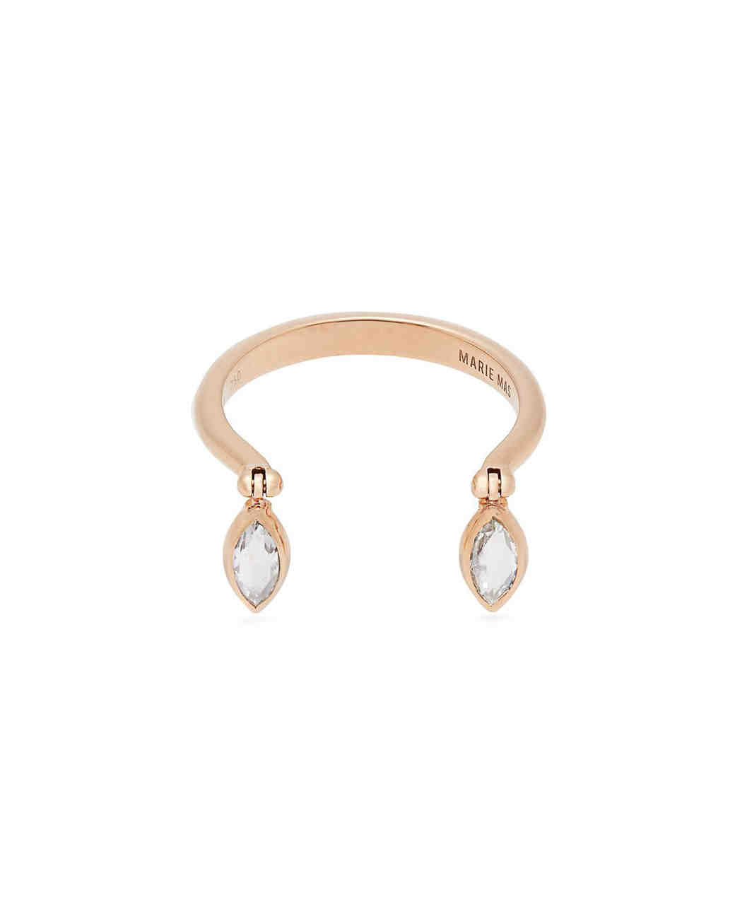blue topaz drops gold engagement ring