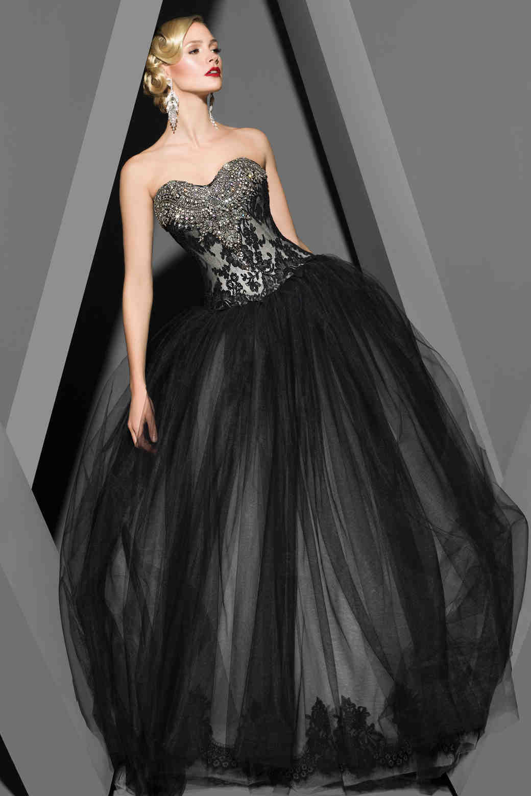Victor Harper black wedding dress