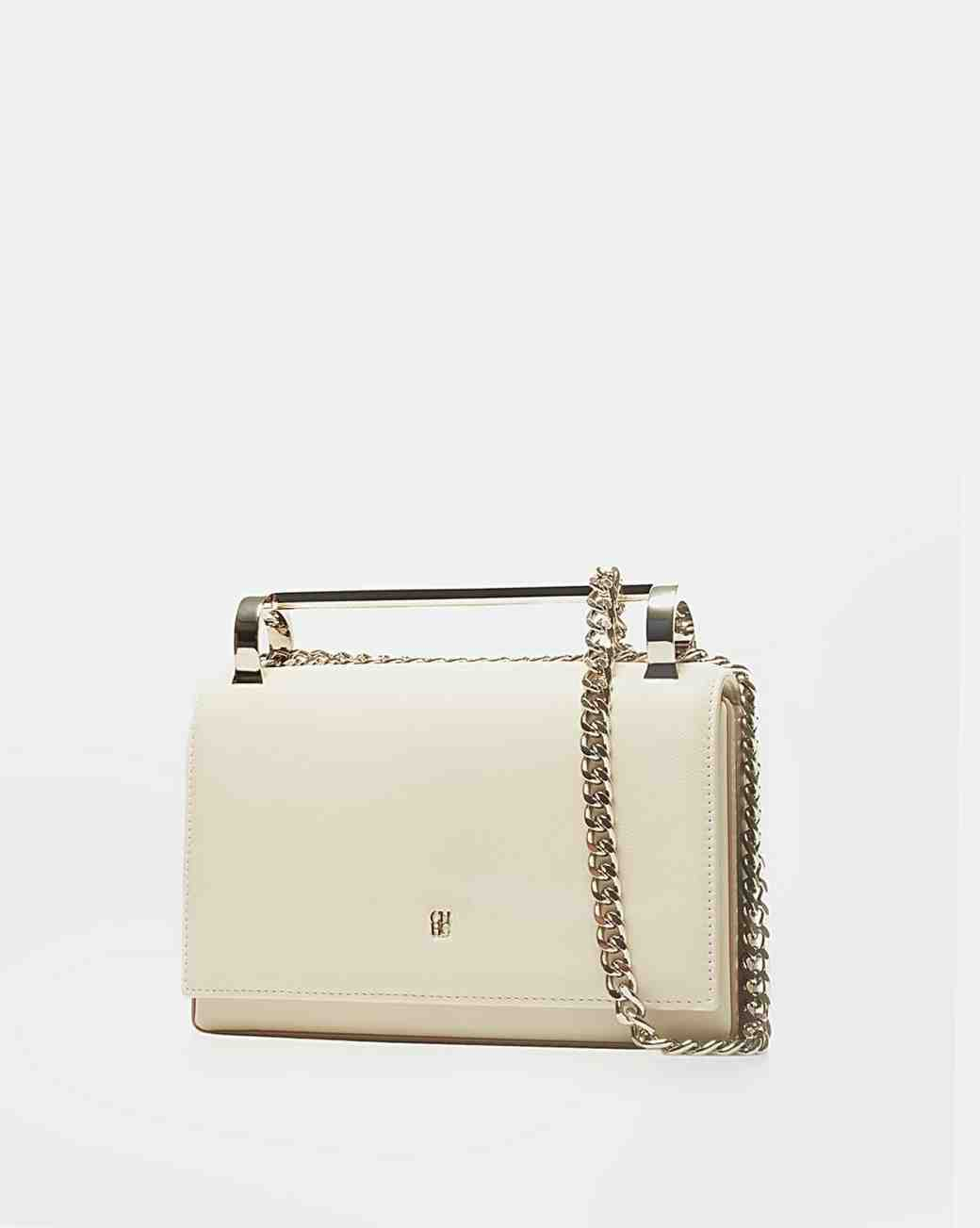 Carolina Herrera White Bridal Clutch