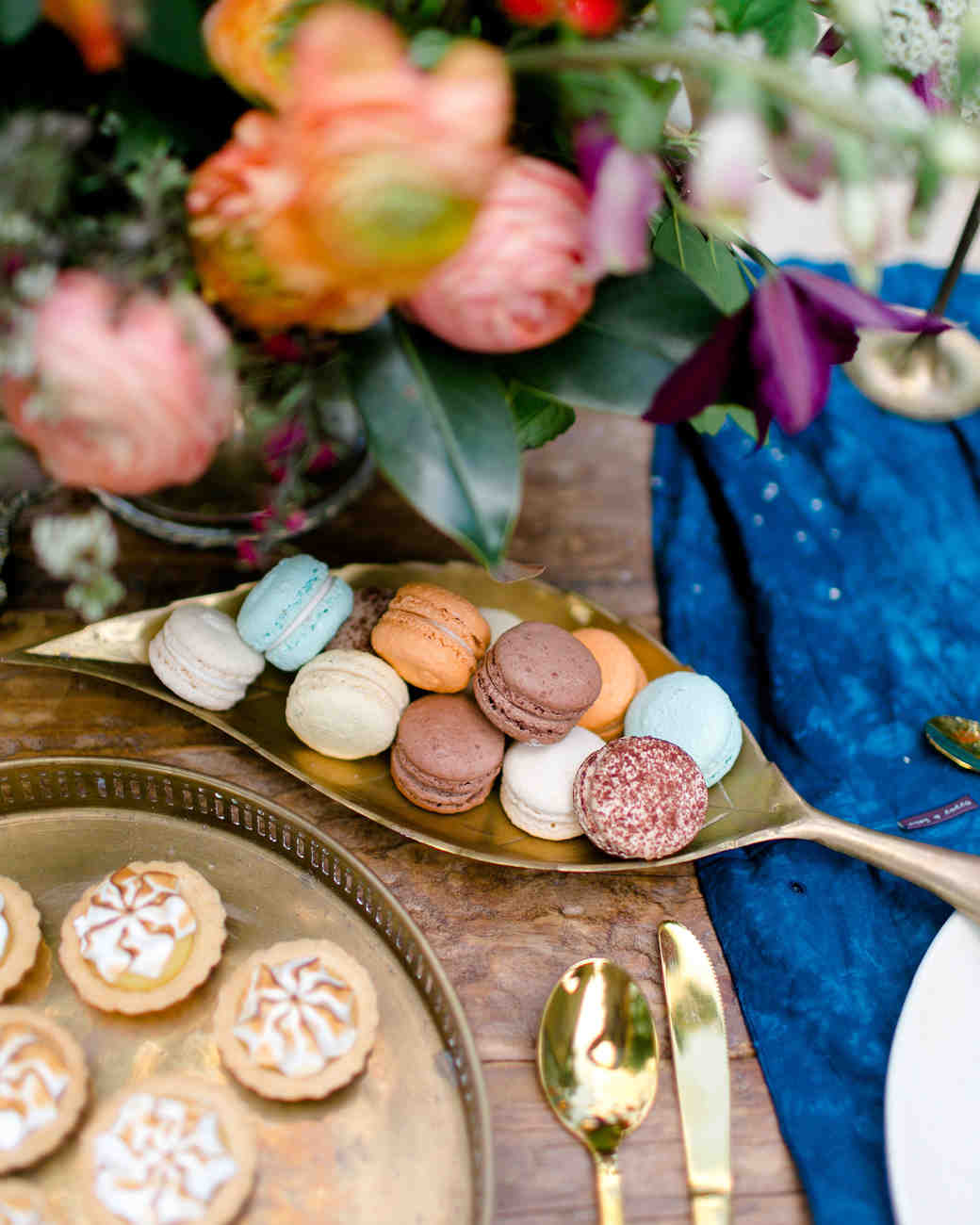 multicolored macarons