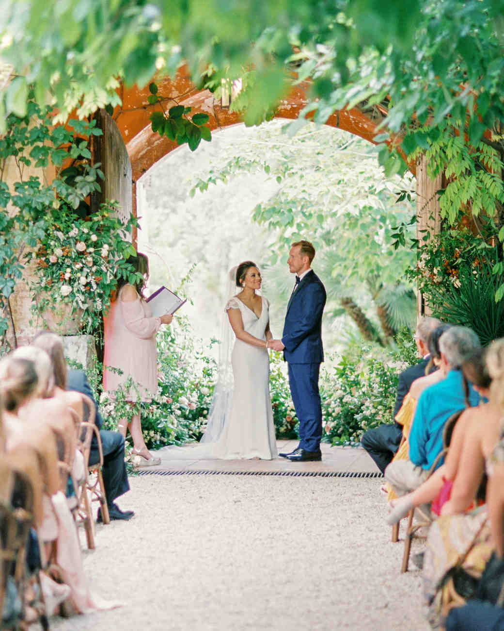 real weddings outdoor ceremony with over hanging trees
