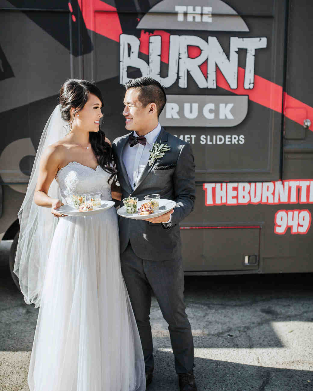 burnt food truck bride groom mobile appetizers