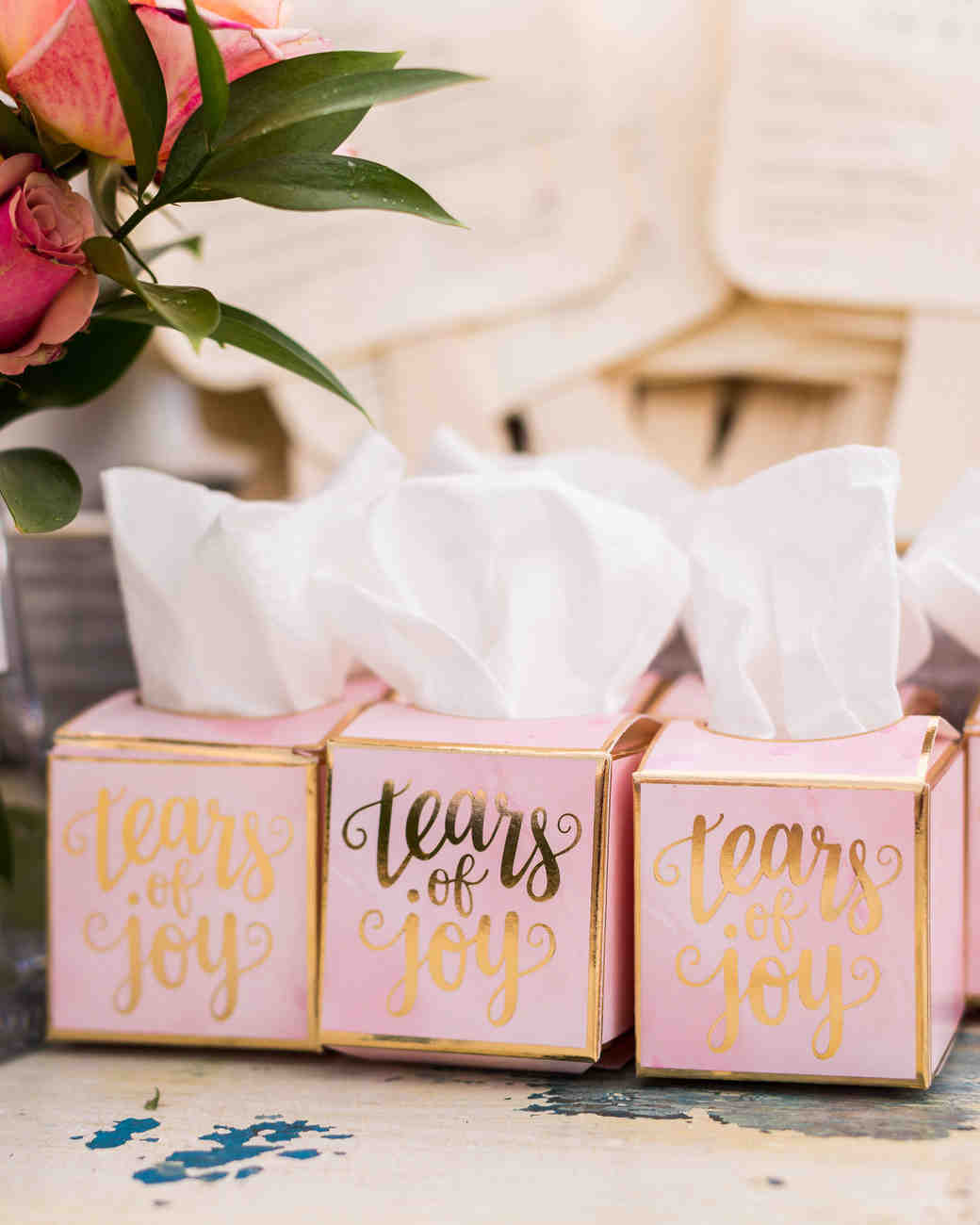 cara chamique wedding tissue boxes