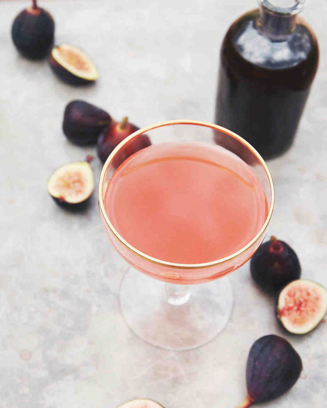 fig champagne cocktail
