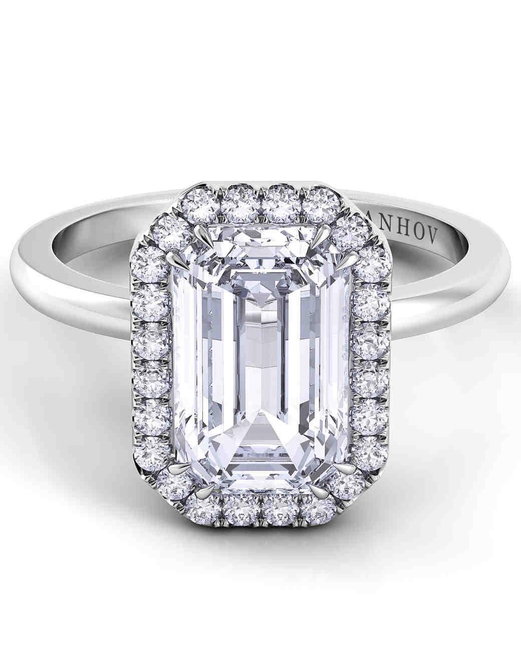 Danhov Emerald-Cut Engagement Ring