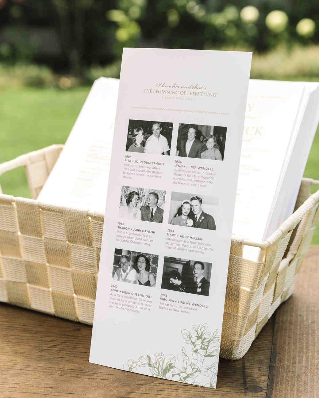 family photo ceremony program