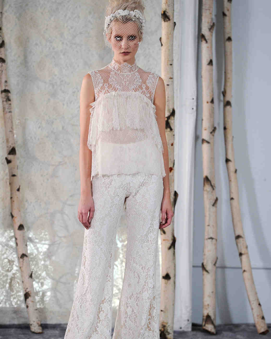 Frilly Lace Wedding Jumpsuit