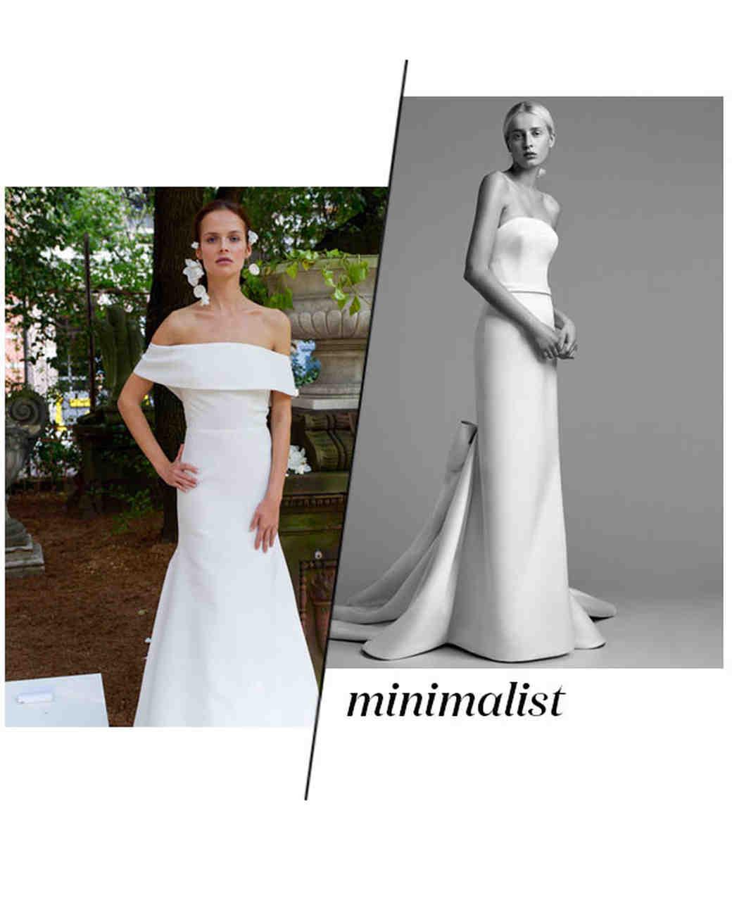 Fall 2018 Wedding Dress Trends, Minimalist
