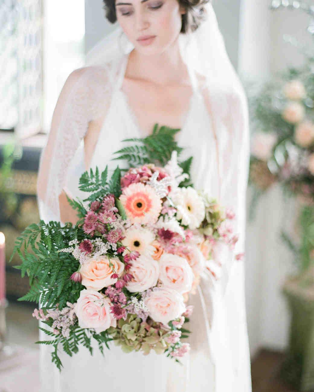 fall wedding flowers dusty roses