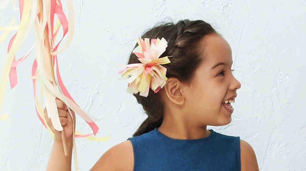 Flower Girl Hair Pom-Pom