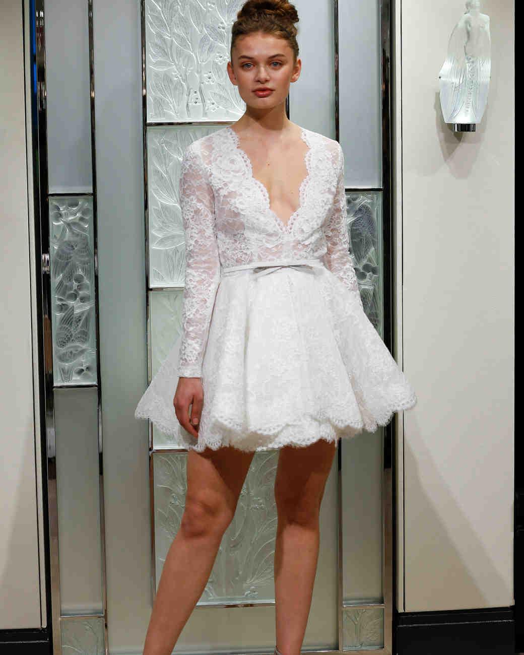 gracy accad short v-neck wedding dress spring 2020