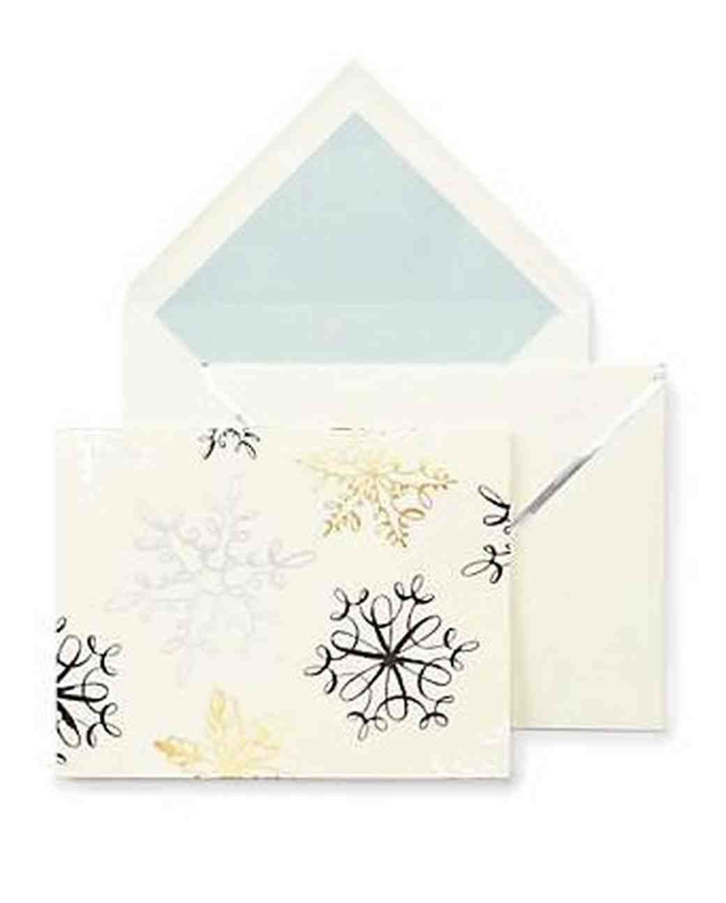 holiday card kate spade snowflakes