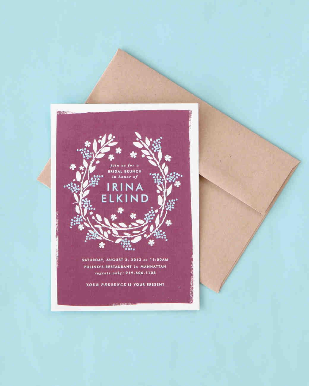 Bridal Shower Invitation Wording Made Simple Martha Stewart Weddings