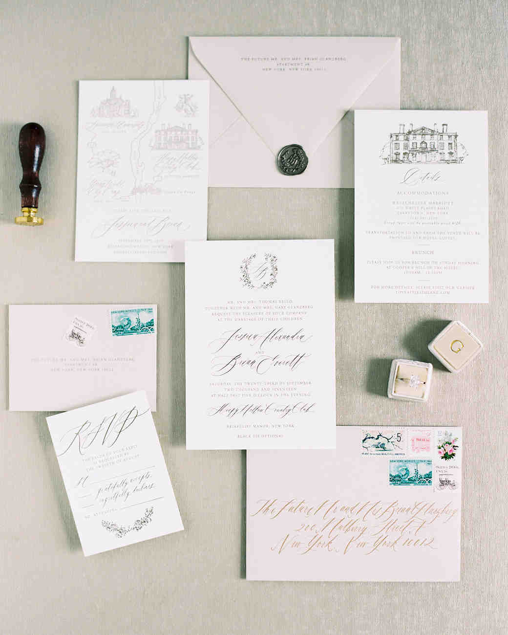 jessica brian wedding stationary